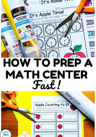 Try these three tips for how to prep a math center faster!