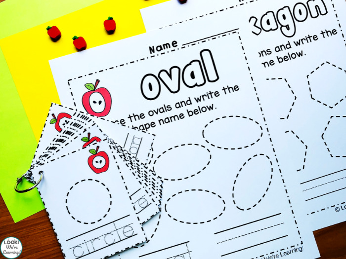 Using Shape Tracing Cards and Worksheets