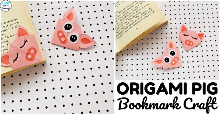 Easy Pig Bookmark Craft for Kids