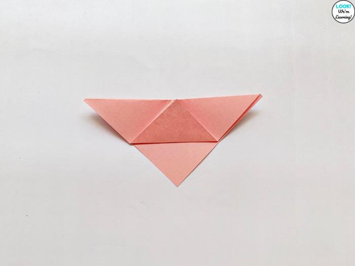 Folding an Origami Pig Craft