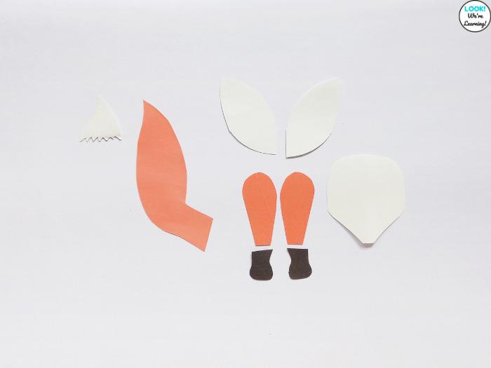 Fox Craft Printable Template Pieces