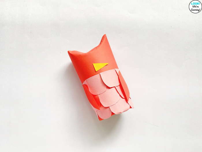How to Make a Paper Roll Owl