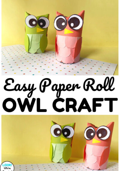 Make a fun and simple fall animal craft with this toilet paper roll owl craft kids can make!