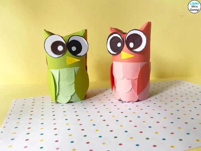 Making Paper Roll Owl Crafts with Kids