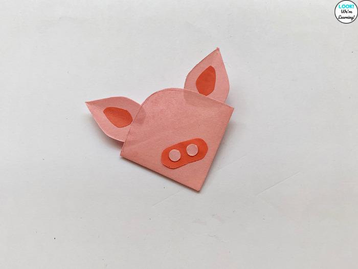 Paper Pig Bookmark Craft