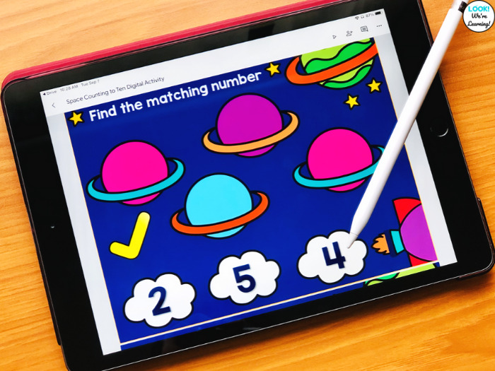 Space Themed Digital Counting Activity for Kids