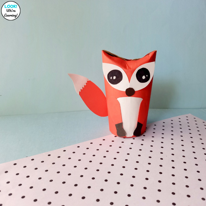 Making a Toilet Paper Roll Fox Craft