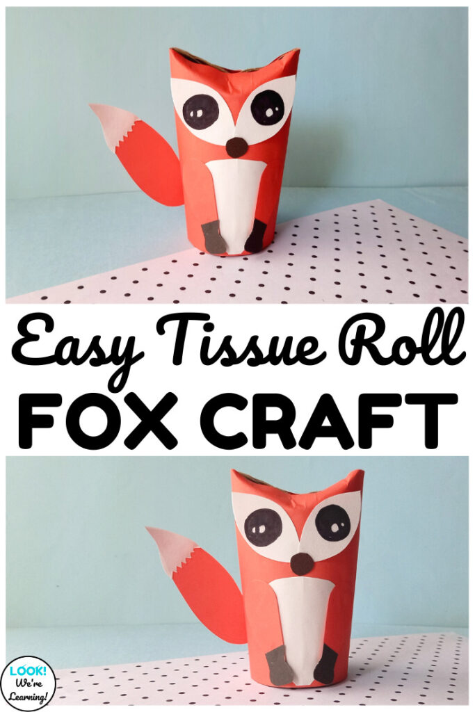 This adorable toilet paper roll fox craft is perfect for a woodland animals unit with kids!